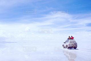 ウユニ塩湖の写真・画像素材[918908]