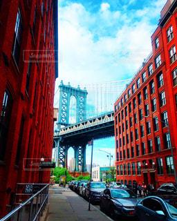 背景の橋と都市の景色の写真・画像素材[917022]