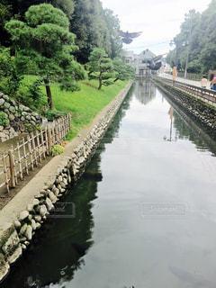 水の体以上の長い橋の写真・画像素材[1340543]
