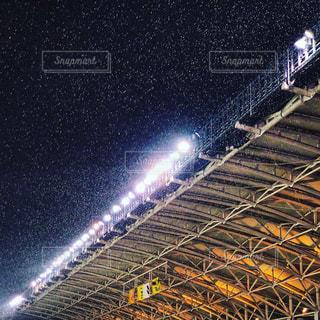 雪のスタジアムの写真・画像素材[2076167]