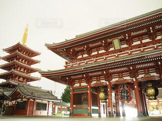 無人の浅草寺の写真・画像素材[714381]