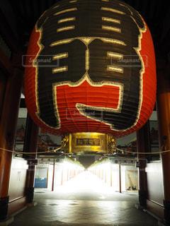 無人の浅草寺の写真・画像素材[714385]