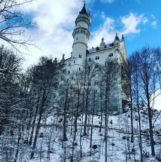 雪とノイシュバンシュタイン城の写真・画像素材[920843]
