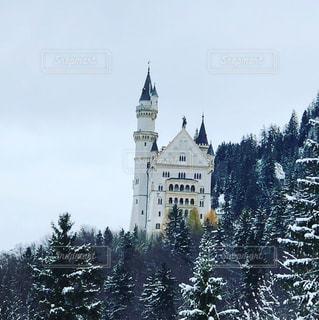 雪景色のノイシュバンシュタイン城の写真・画像素材[920845]