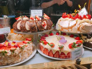 ケーキのディスプレイの写真・画像素材[1649714]