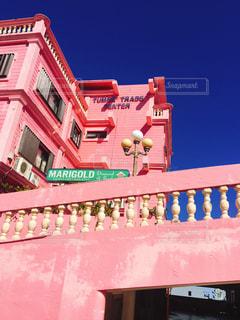 ピンクの建物の写真・画像素材[1651958]