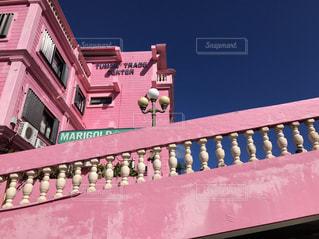 ピンクの建物の写真・画像素材[1651960]