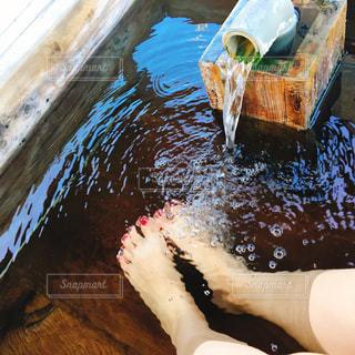 足湯の写真・画像素材[1652013]