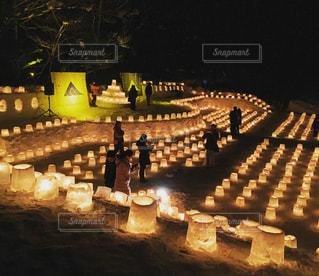雪燈篭の写真・画像素材[977329]