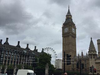 ビッグ・ベンとロンドンアイの写真・画像素材[923153]