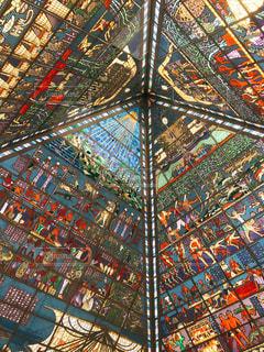 カラフルな天井の写真・画像素材[1040070]