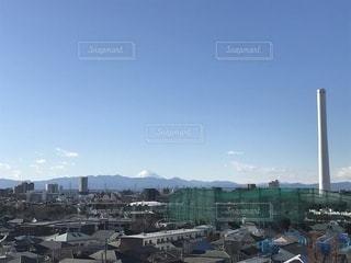 富士山と煙突?の写真・画像素材[933038]