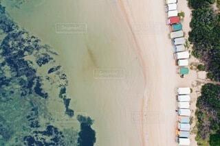 海と小屋との写真・画像素材[3844586]