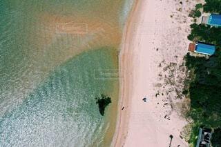 陸と海の境界線の写真・画像素材[3863066]