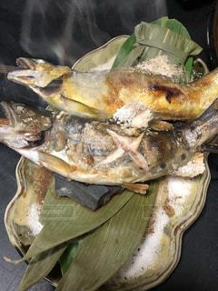 ♡新潟の.山奥にある ぉ店で食べた.鮎とイワナの塩焼き♡の写真・画像素材[956075]
