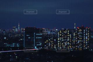 東京タワーとスカイツリーの写真・画像素材[927543]