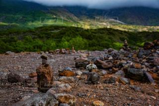 積み上げた石の写真・画像素材[949147]