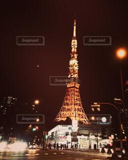 東京タワーに続く道の写真・画像素材[930724]