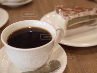 コーヒーとケーキの写真・画像素材[418164]