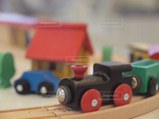 木の列車の写真・画像素材[1000110]
