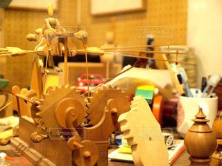 木製の歯車の写真・画像素材[1004851]