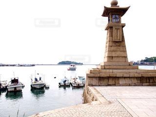 鞆の浦の灯台の写真・画像素材[1004957]