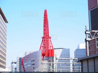 都大阪梅田のヘップの観覧車の写真・画像素材[1127115]
