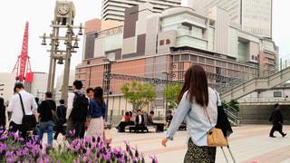 通りを歩く人々 のグループ - No.1150595