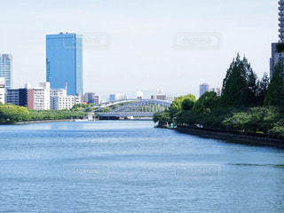 大阪の風景、川。の写真・画像素材[1180301]