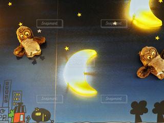 月夜のランプの写真・画像素材[1457750]
