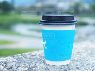 水色のカップの写真・画像素材[1534347]