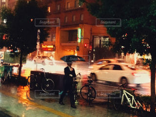 夜の道の写真・画像素材[1625727]