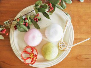 お正月飾りのテーブルフォトの写真・画像素材[1691252]