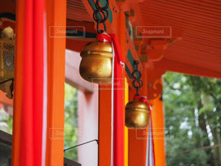 神社の鈴の写真・画像素材[2109892]