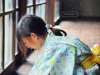 浴衣を着た女の子の写真・画像素材[2439486]