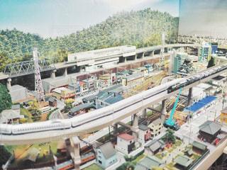 ジオラマ鉄道模型の写真・画像素材[2855015]