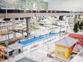 ミニチュア鉄道模型の写真・画像素材[2855017]