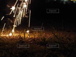 夜空の花火の写真・画像素材[3542321]