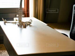 テレワークをホテルでの写真・画像素材[4105680]