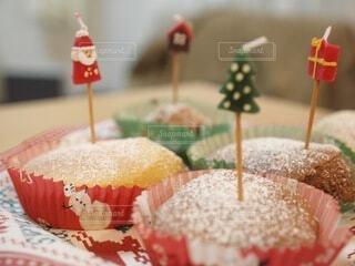クリスマスケーキマフィンの写真・画像素材[4767056]