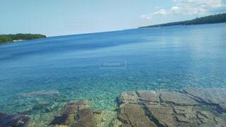 青い湖の写真・画像素材[929474]