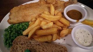 イギリスのフィッシュ&チップスの写真・画像素材[929526]