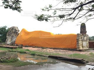 タイ アユタヤ 涅槃仏の写真・画像素材[928528]