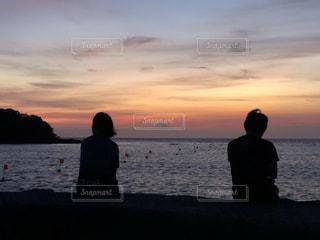 海の夕日の写真・画像素材[1803265]