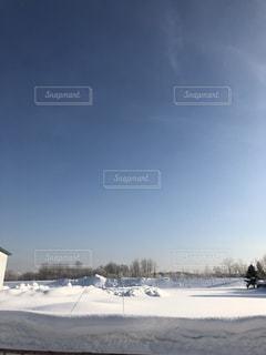 雪に覆われたフィールドの写真・画像素材[990082]