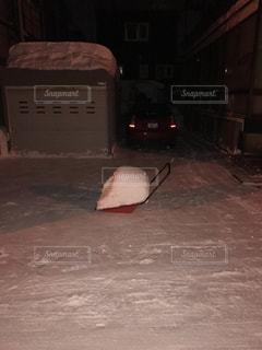 雪を運ぶダンプ。の写真・画像素材[929269]