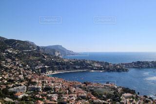 南フランスの街と海の写真・画像素材[1074163]