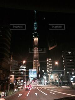 夜の街の景色の写真・画像素材[944784]