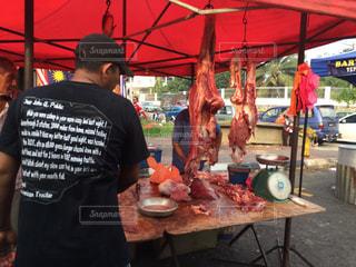 マレーシアの肉屋、オープンすぎの写真・画像素材[218885]