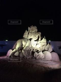 砂の彫刻の写真・画像素材[933934]